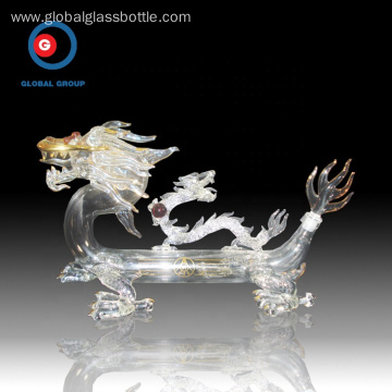 Unique carved printing Chinese dragon craft wine bottle