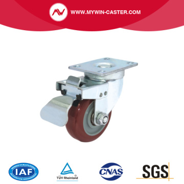 Plate Top Swivel Industrial Caster PU Wheel