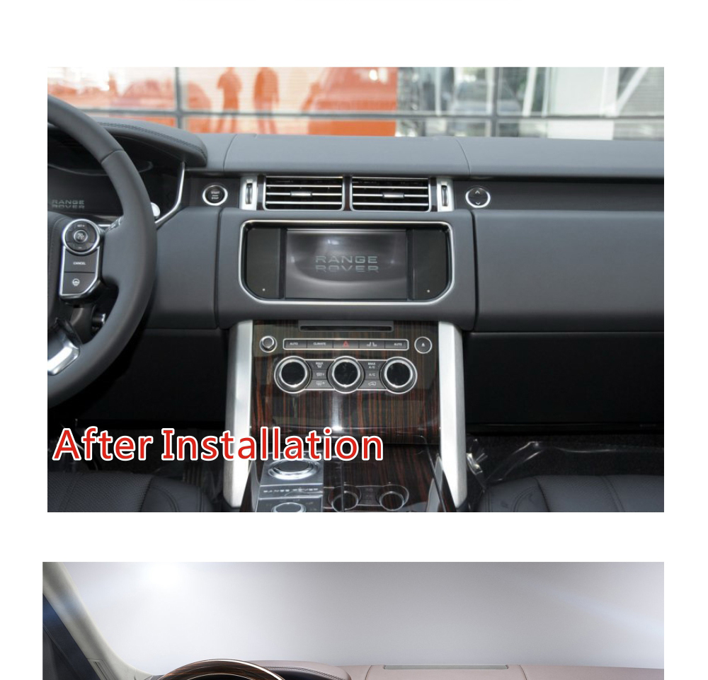 Android Range Rover 1316 after installation