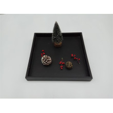 Black Wooden Tea And Food Tray