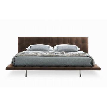 Stainless steel frame Grace leather Onda bed