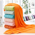 Solid Orange Color Towel Set For Bathroom