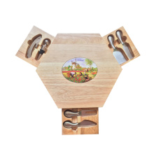 High quality wooden oak cheese board
