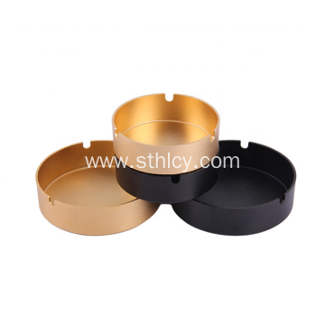 Gold Black Rose Gold Color Stainless Steel Ashtray