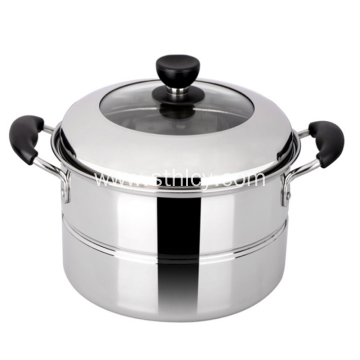304 Stainless Steel Steamer Pot With Single Layer
