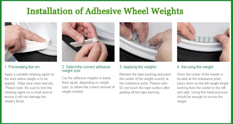 how to install adhesiv weight