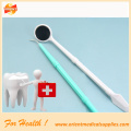 2 items dental kits with mirror and probe