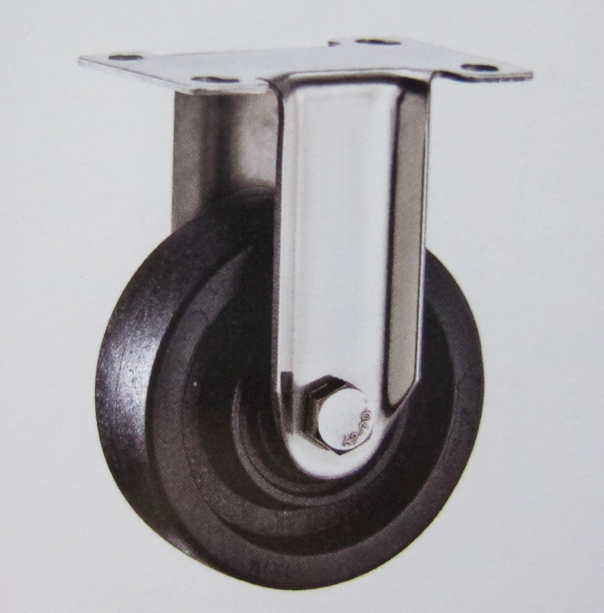 220 High Termperature Fixed Caster Wheel Stainless Steel Bracket