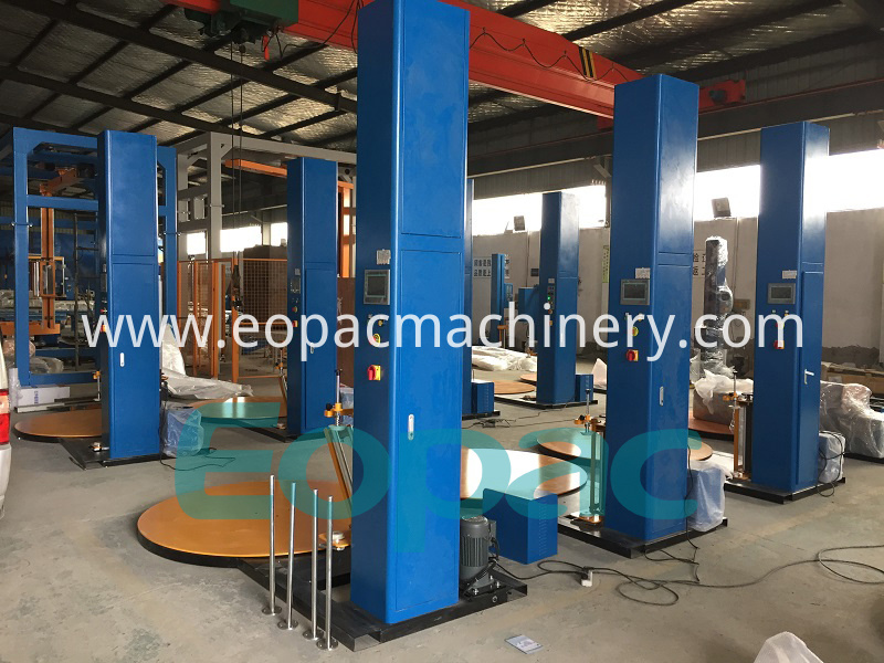 Automatic Pallet Stretch Film Packing Machine