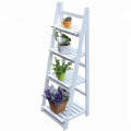 4 Tier Flower Stand, Wooden Plant and  Flower Shelf Ladder, Garden Home Balcony Outdoor Display
