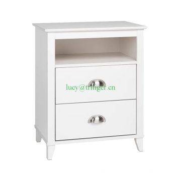 Traditional 2 Drawer Nightstand