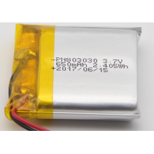 650mAh Lithium Ion Polymer Battery For Speakers (LP3X3T8)