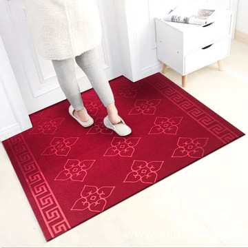 Lower price polyester plain exhibition carpet mat