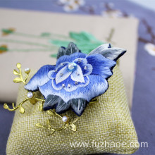 20 Years Factory for China Embroidered Brooch,Brooch Accessories,Hand-Embroidered Brooch Supplier Chinese traditional embroidery brooch supply to Kyrgyzstan Manufacturer