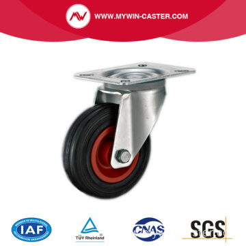 Plate Swivel Black Rubber Medium Duty Industrial Castors