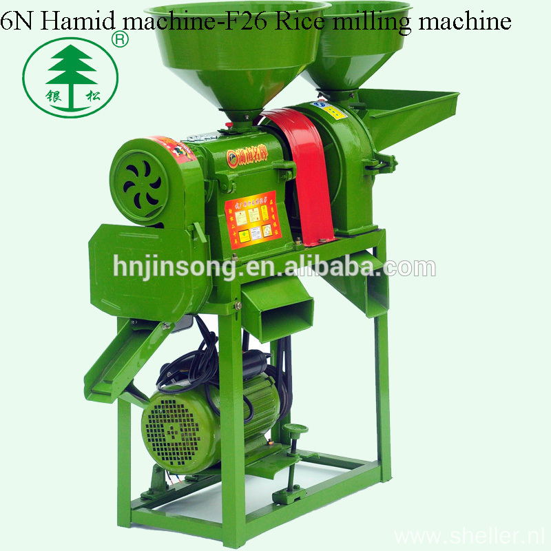 Easy Use 6N-F26 Hamid Combined Rice And Wheat Flour Mill Machine