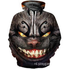 Ghost cat 3D digitale print hoodie