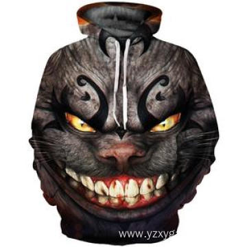 Ghost cat 3D digital printing hoodie