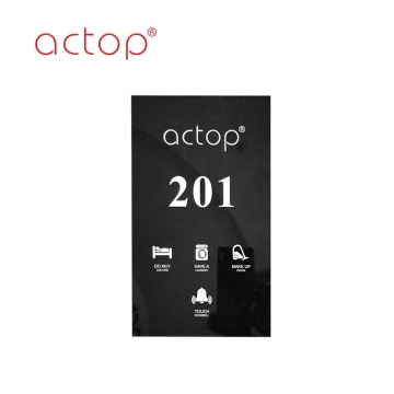 Hotel electronic doorplate with touch doorbell switch