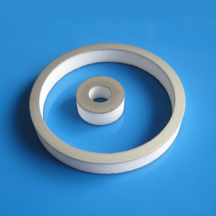 Insulation metallised ceramic rings