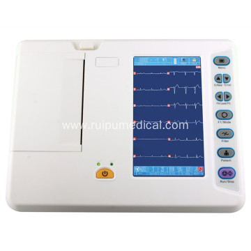 CE Digital 6 Channel ECG Machine Electrocardiograph