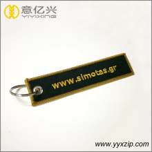 Honorable gold style specialized embroidery keychain