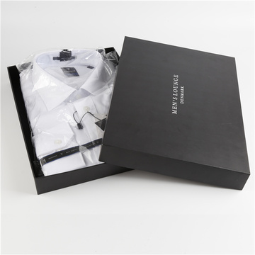 Black Cardboard Shirt Packaging Clothing Gift Box