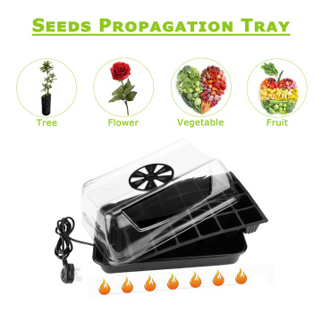 Vented Humidity Dome Indoor Propagation Nursery Seed Tray