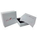 White cardboard jewelry packaging box