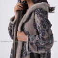 Winter Mink Fur Overcoat For Lady