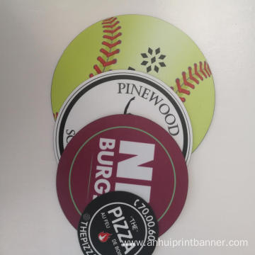 UV print round shaped  custom sticker