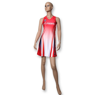 latest design custom sublimated team cheap netball dress
