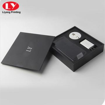 Black cellphone accessories packing box