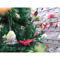glass Christmas tree feathered birds ornaments