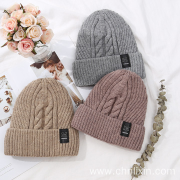 Premium wool knitted hats winter hat for women