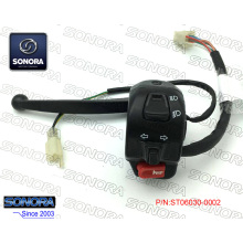 Supply for China Baotian Handlebar Switch, Qingqi Bandlebar Switch, Benzhou Handlebar Switch Manufacturer and Supplier BAOTIAN BT49QT-12E3(4P)L. Handle Switch Assy-with Black Lever (P/N:ST06030-0002) Top Quality supply to Germany Supplier