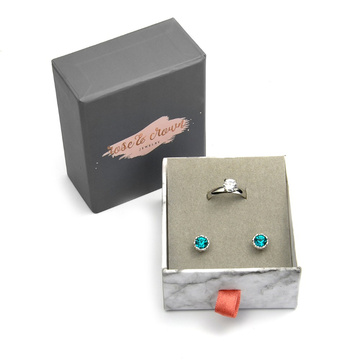 Promotional Sliding Gift Paper Earring Packing Box
