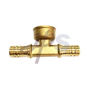Brass PEX female tee fitting