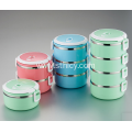 Stainless Steel Food Containers-Stacking Vacuum Lunch Box
