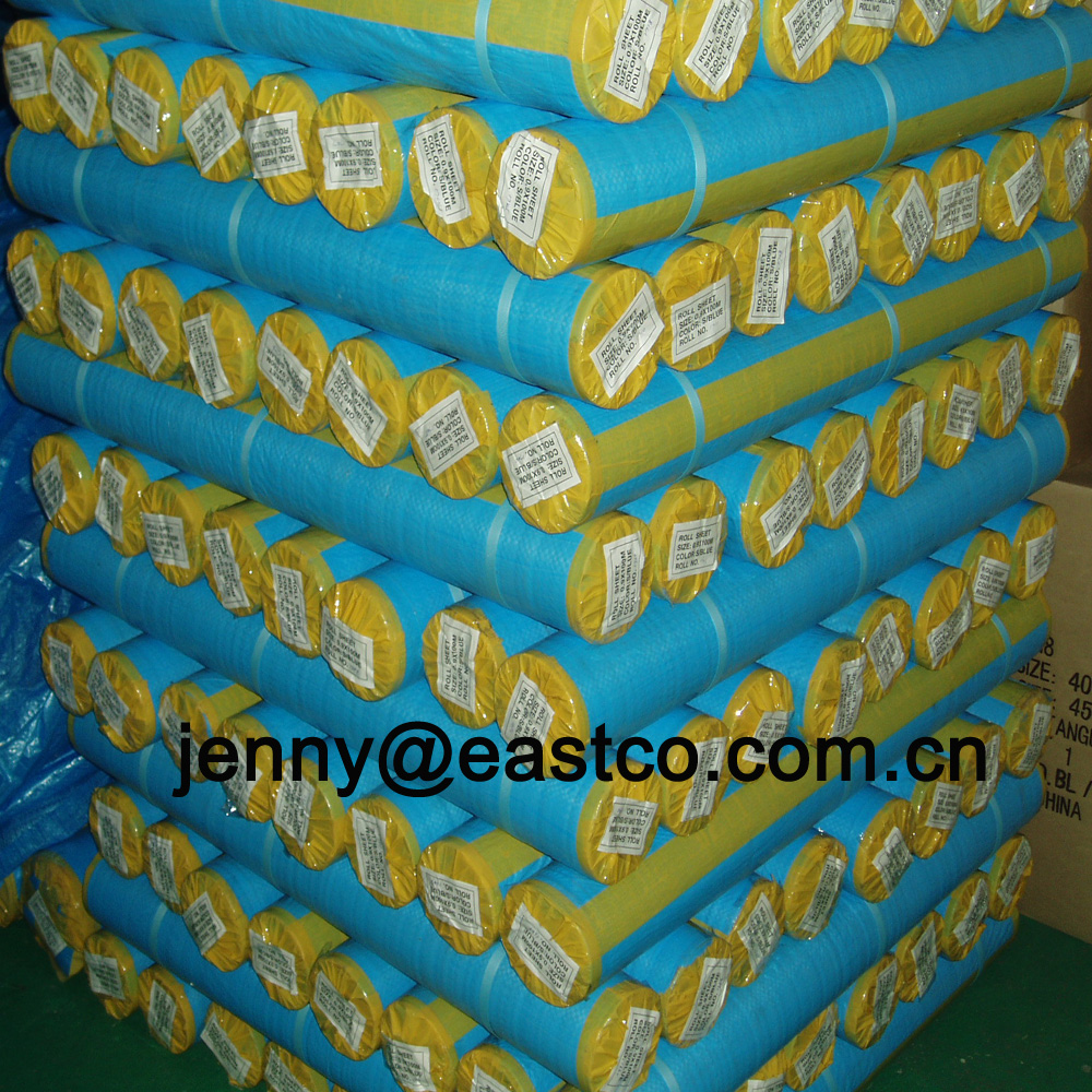 UV Blue Tarpaulin Roll Goods