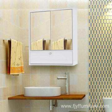 Leading for Bathroom Cabinet,Bathroom Storage Cabinet,Bathroom Sink Cabinets Manufacturer in China White Bathroom Cabinet with 2 Doors and Mirror export to Poland Supplier
