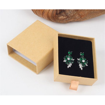 Full Color Drawer Earring Box With Ribbon Handle