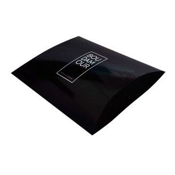 Small Black Custom Print Pillow Box Packages