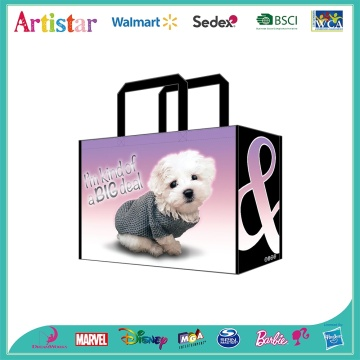 CUTE DOG huge non-woven bag