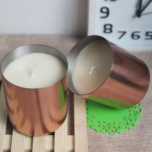 Fragrance Soy Wax Candle with Luxury Copper Holder