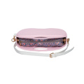 new pink apple shape crossbody pocket beach bags
