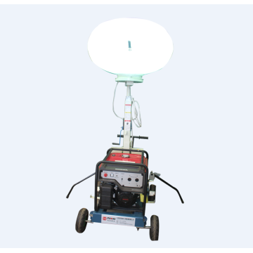 Telescopic mobile tower light machinery equipment