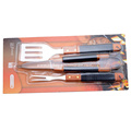 3pc barbecue tool set with blister