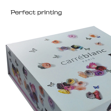 Colorful Printing Flower Decoration Folding Paper Box