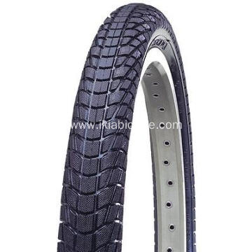 Black Bike Tire with Kinds Flowers